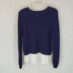 Cable & Gauge S Navy Pullover Sweater
